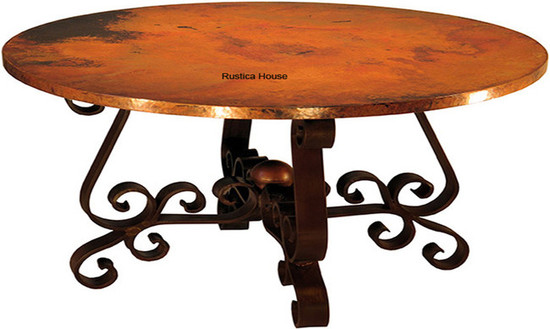 colonial copper dining table