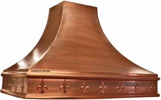 custom hammered copper hood