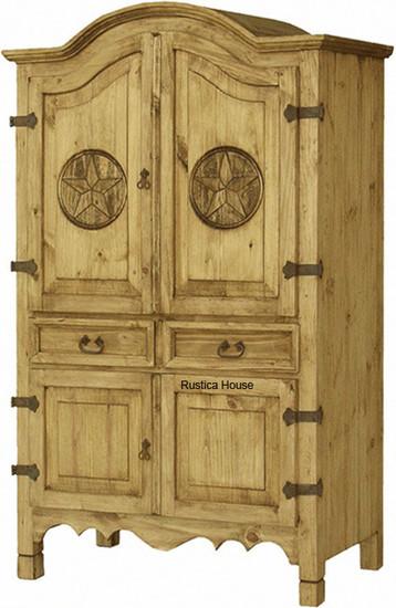 mexican four door armoire