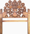 carved pine headboard