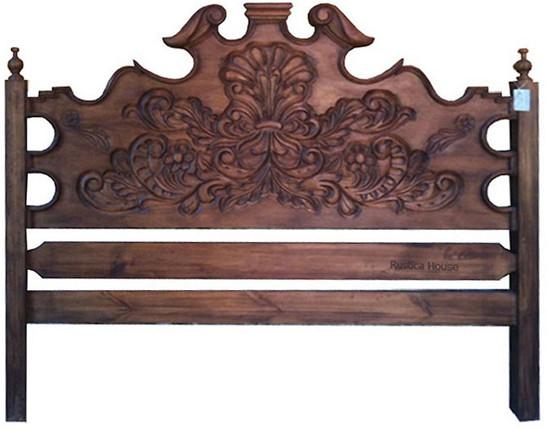 hacienda wood headboard