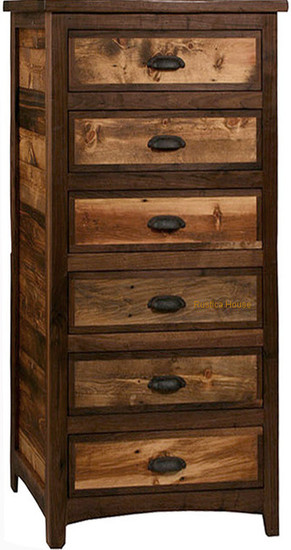 rustic six drawer dresser