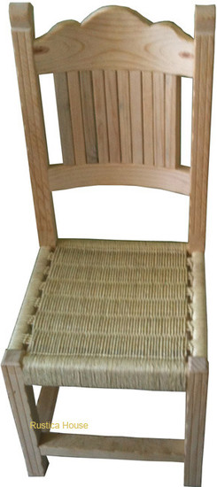 hand crafted mexican wooden chair