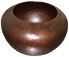 hammered copper vessel sink
