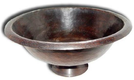 round vessel copper sink