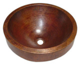 mexican bathroom copper vessel sink
