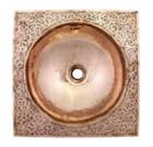 moroccan design copper bathroom sink