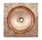 moroccan design copper bathroom sink