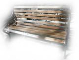 rustic garden bench colonial