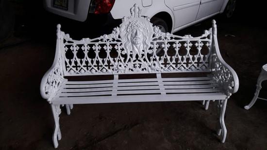 rustic garden bench victorian