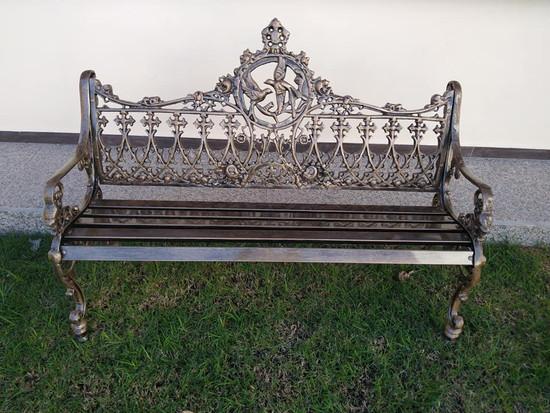 rustic garden bench Mexican