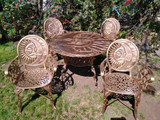 rustic garden dining set sun and moon