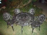 rustic garden dining set shining sun