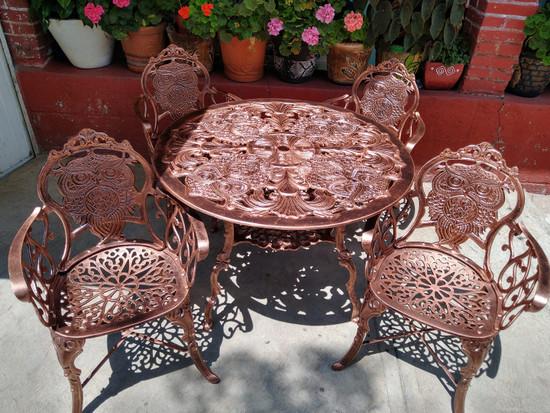 rustic garden dining set owl