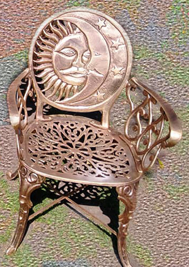 rustic garden chair eclipse