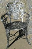 rustic garden chair calla lily basket