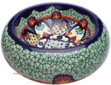green cobalt mexican vessel sink