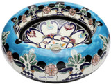 black blue mexican vessel sink