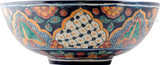 painted talavera vessel sink