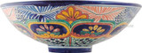 hand painted talavera vessel sink