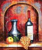 Painted Kitchen Wall Tile Mural