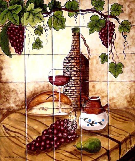 Hand Painted Kitchen Bath Tile Mural