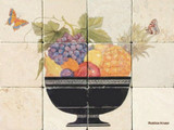 tile mural fruit bowl