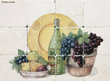 Fruit and wine Kitchen tile mural