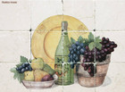 tile mural fruit and wine