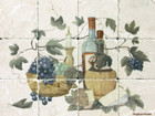 vine leaves Kitchen tile mural