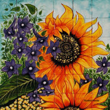 tile mural sunflowers