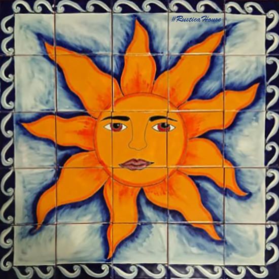 Sun Kitchen backsplash tile mural
