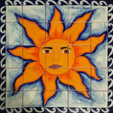 Sun Kitchen backsplash tile mural