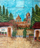 tile mural old chapel