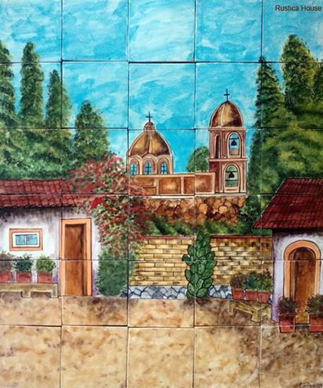 tile mural old chapel
