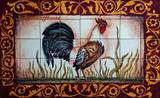 Rooster kitchen tile mural