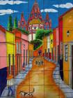 Aldama street kitchen tile mural