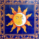tile mural eclipse