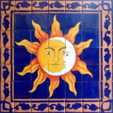 tile mural eclipse