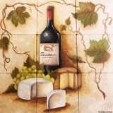 wine culture kitchen tile mural
