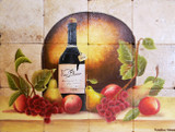 red wine kitchen tile mural