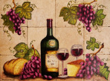 wineglass  kitchen tile mural