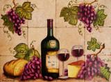 wineglass  kitchen tile mural