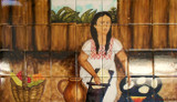 traditional mexican cook  culture kitchen tile mural
