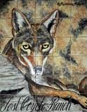 tile mural coyote