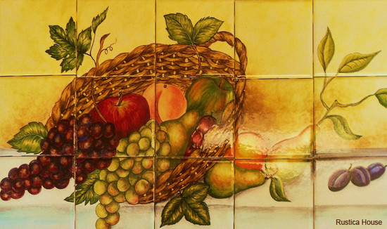 Fruit  kitchen backsplash tile mural