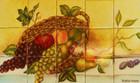 Fruit  kitchen backsplash tile mural