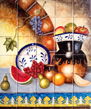 handmade tile mural