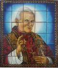 John Paul the 2nd wall tile mural