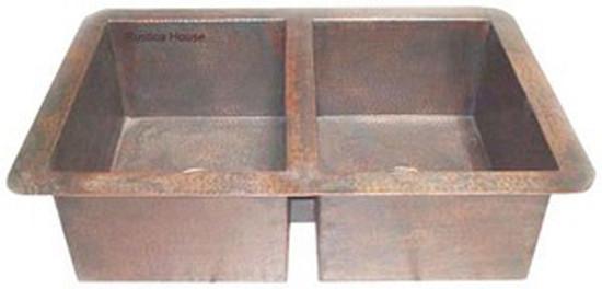 artisan made copper apron kitchen sink
